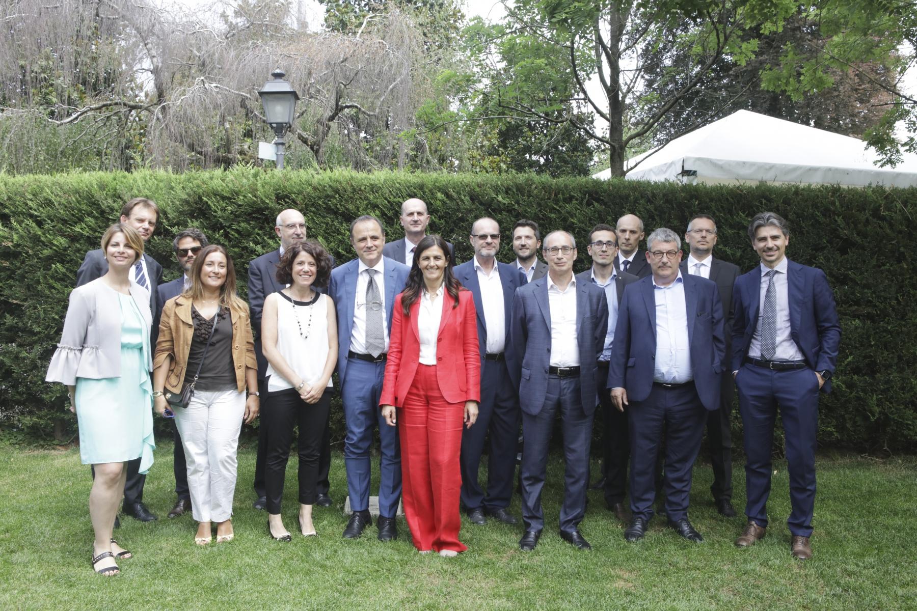 Marta Bucci con i Presidenti delle Commissioni Tecniche Anigas