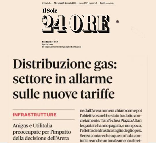 Distribuzione gas: settore in allarme sulle nuove tariffe
