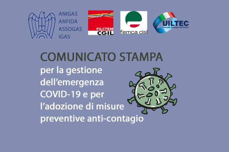 Avviso Comune per la gestione dell'emergenza COVID-19 e per l'adozione di misure preventive anti-contagio