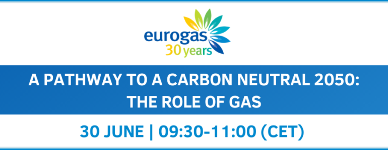 Online Event: A Pathway to a Carbon Neutral 2050 – The role of Gas