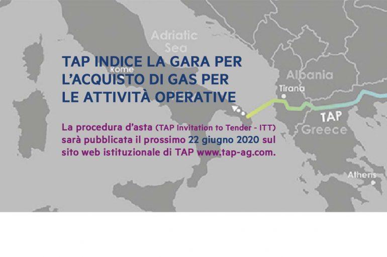 TAP indice la gara per l'acquisto di gas per le attività operative