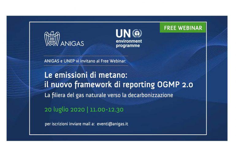 """Webinar Anigas e UNEP  – """"Le emissioni di metano: il nuovo framework di reporting OGMP 2.0"""""""