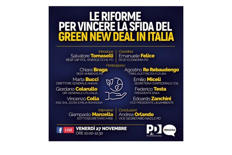 Webinar: Le riforme per vincere la sfida del Green new deal in Italia