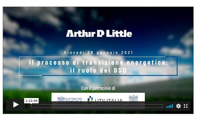 Disponibile il video del webinar 'Il processo di transizione energetica: il ruolo dei DSO'