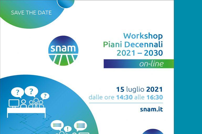 SNAM: Workshop online Piani Decennali 2021-2030